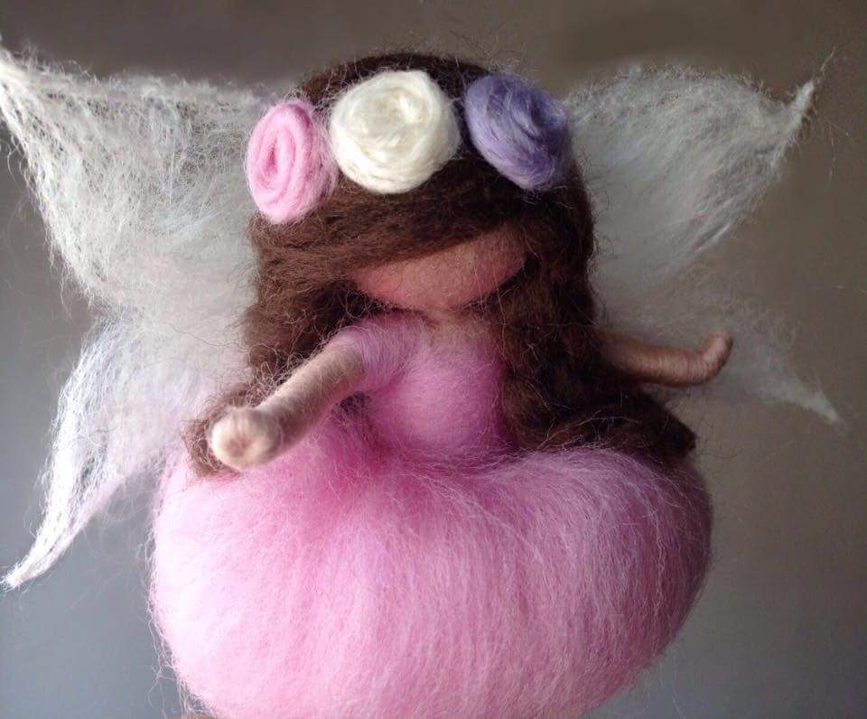 Pink Waldorf fairy Doll for sale