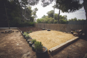 Sand Pit - in the infants playground